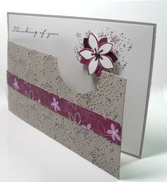Instructions on how to make this unusual homemade card design, known as the cutaway technique.