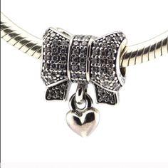 Pandora sparkling heart and bow charm  New pandora charm Pandora Jewelry