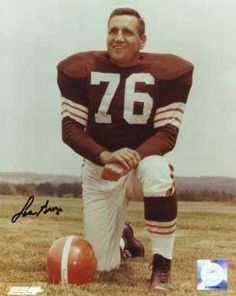 """Lou """"The Toe"""" Groza (1924 - 2000) NFL Hall of Fame football player, he spent 21 seasons with the Cleveland Browns where he was a standout kicker as well as an offensive lineman, his nickname was """"The Toe"""""""