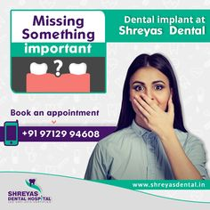 There is no better, long-lasting option for restoring a missing tooth than a Dental Implant. Get back your natural looking smile with #DentalImplant treatment at Shreyas Dental Hospital.  #DentalImplantAhmedabad #DentalImplantClinic