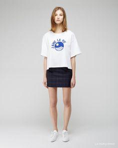 Jacquemus / Le T-Shirt J'aime La Vie Jacquemus / La Mini Jupe Taille Haute Woman by Common Projects / Original Achilles Low Sneaker