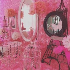Elaborate pink Paris baby shower party! See more party ideas at CatchMyParty.com!