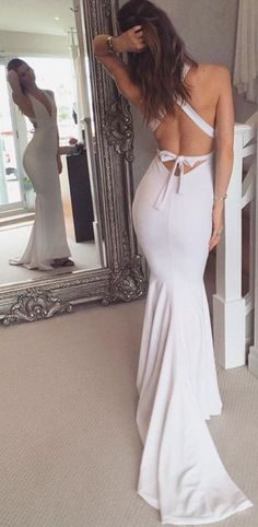 Charming Prom Dress, Sexy Prom Dress, Sleeveless Mermaid