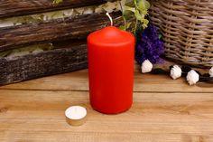 Κεριά Κυλινδρικά Κόκκινα Φ8x15εκ Pillar Candles, Taper Candles