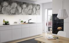 IKEA furniture and home accessories are practical, well designed and affordable. Here you can find your country's IKEA website and more about the IKEA business idea. Ikea Design, Ikea Kitchen Design, Kitchen Decor, Kitchen Ideas, White Ikea Kitchen, White Kitchen Backsplash, White Kitchen Cabinets, White Kitchens, Ikea Kitchens