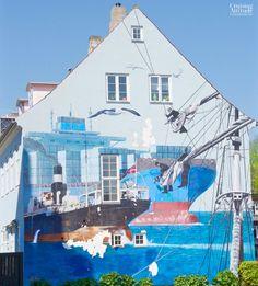 Mural in Helsingør, Denmark | Cruising Attitude Sailing Blog - Discovery 55