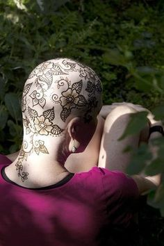 tatoos for head cancer patients | Beautiful Henna Head Tattoos Help Cancer Patients Cope With Hair Loss ...