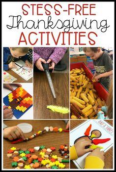 Stress-Free Thanksgiving Activities - Differentiated Kindergarten