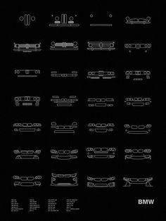 Auto Icon Screen Print Series: BMW
