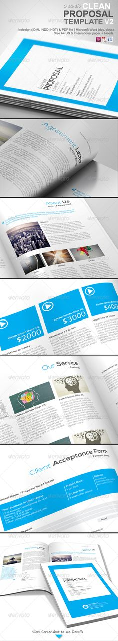 Professional Proposal Template  Adobe Photoshop Fonts And Stationery