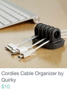 Organized desktop cables