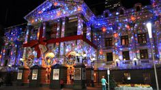 Awesome Christmas Light Projectors And Houses Lit Up Time For The Holidays White Laser