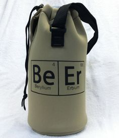 Craft Beer Growler Koozie - Periodic Table - Father's Day Gift. Oh yes.