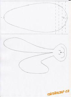 Zápich - tělo skládané do harmoniky, prostředkem provléknout na špejli