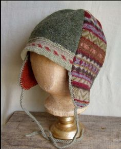 Felted wool sweater hat