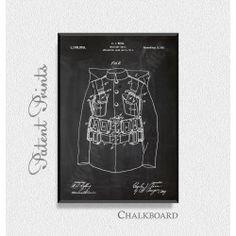 Military Coat 1916 Patent Print