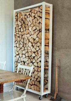 #DIY Outdoor Firewood Storage by HOLLACHE