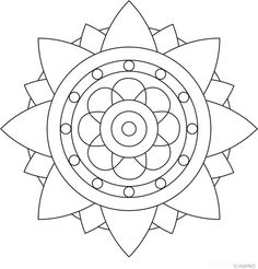 Triangle Mandala Coloring Pages