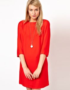 Shift Dress With Cropped Sleeves £35