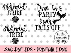 Time To Party Our Tails Off - Mermaid Bride Bundle SVG DXF EPS PNG Cut File • Cricut • Silhouette Engaged Bride Wedding Bundle SVG DXF EPS PNG Cut File • Cricut • Silhouette free svg last fling before the right off the market he popped the question we're popping bottles bachelorette party bridesmaid shirt wedding svg files free wedding svg files I'm Getting Meowied Wedding SVG DXF EPS PNG Cut File • Cricut • Silhouette free svg wedding bride married mrs future mrs engaged bachelorette party…