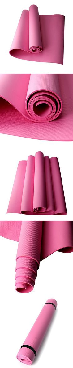 Ezyoutdoor PVC Yoga Exercise Mat,4mm thick Exercise Yoga Mats Padding 72.In x 24.In, Perfect for Gym Exercise Body Building Pilates Manduka Bikram Workout Gym Floor Fitness Sleeping