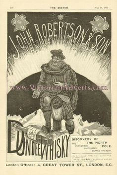 "Robertson's Dundee Whiskey ad July 1893 ""The Sketch""."