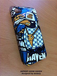 Hiphop crow RAVEN  smart phone hard case  - designed by doldol