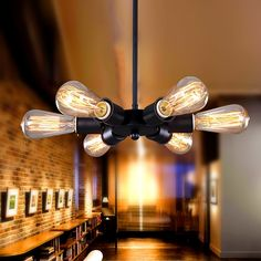 59.03$  Watch here - http://aliaux.worldwells.pw/go.php?t=32714024649 - Continental Bedroom Living Room Dining Bar Cafe American Country Retro Style Industrial Six Lamp Ferris Wheel Chandelier 59.03$