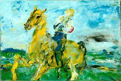 Jack B. Yeats, 'The Singing Horseman', Photo © National Gallery of Ireland. © Estate of Jack B. All rights reserved, DACS Irish Painters, Jack B, Irish Culture, Irish Art, Art For Art Sake, Equine Art, Art Studies, Figurative Art, Art Google