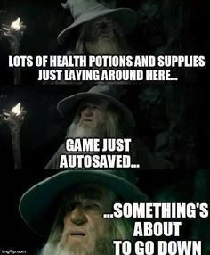 I get suspicious every time I come across caches in Skyrim! Video Game Logic, Video Games Funny, Funny Games, Video Game Quotes, Gamer Humor, Gaming Memes, Cultura Nerd, Videos Fun, Funny Pictures