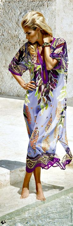 MARYAN MEHLHORN 2013. Purple printed light chifon sarong. Wear it at the club, the pool, the beach... #pintowin #dswshoehookup