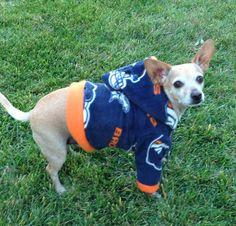 Denver Broncos NFL Dog Hoodie FREE SHIPPING by GypsyEyesClothing