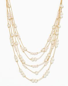 charming charlie | Silk and Satin Layer Necklace | UPC: 410007393874 #charmingcharlie $15 each