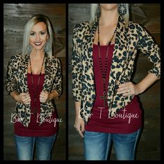 Leopard Blazer ~ Follow @bar_t_boutique on Instagram to Shop Weekly New Arrivals!