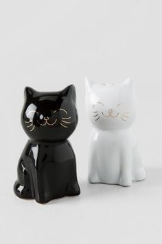 """Salero y pimentero de cerámica """"gatos"""""""