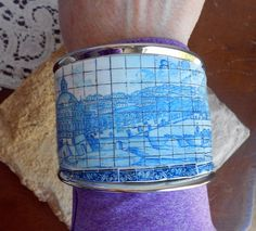 Portugal HUGE Antique Azulejo Tile Replica BRACELET por Atrio