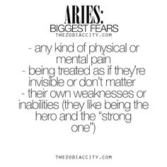 Zodiac Aries biggest fears. For much more on the zodiac signs, click here.