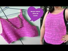 YouTube Crochet Halter Tops, Crochet Crop Top, Crochet Bikini, Crochet Scarf Tutorial, Crochet Diy, Knitting Videos, Crochet Videos, Crochet Diagram, Crochet Patterns