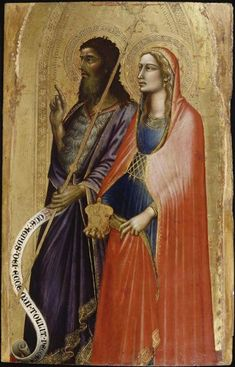 Saint John the Baptist and Mary Magdalene by Angelo Puccinelli, the Petit…