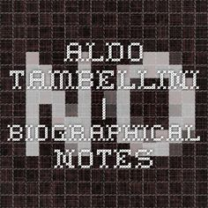 Aldo Tambellini | Biographical notes Aldo, Objects, Artist, Artists