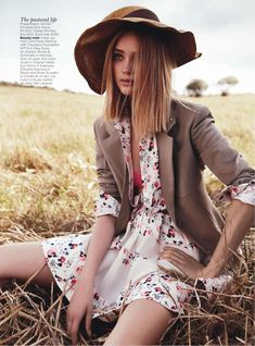 "ROSIE TUPPER BY NICOLE BENTLEY  VOGUE AUSTRALIA DECEMBER 2012 ""FIELD OF DREAMS"" (1023×1382)"