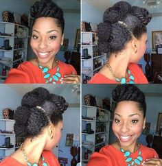 cute protective Mohawk updo for natural hair Haar African American 60 Easy and Showy Protective Hairstyles for Natural Hair Thick Natural Hair, Natural Hair Updo, Be Natural, Natural Hair Styles, Natural Mohawk, Natural Texture, Mohawk Updo, Natural Hair Haircuts, Protective Hairstyles For Natural Hair