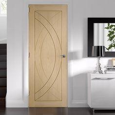 Bespoke Treviso Oak Flush Panel Door.  #bespokedoor #internaldoor #moderndoor