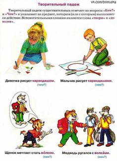 Творительный падеж. РКИ. Дети-билингвы.