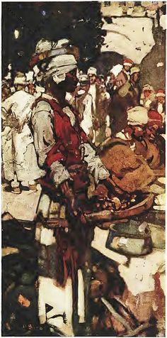 turkish sweetmeat seller frank brangwyn by Captain Geoffrey Spaulding, via Flickr