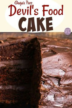 This is the recipe for How to Make Sugar Free Devil's Food Cake that you can serve with or without a sugar free frosting as well. Sugar Free Chocolate Cake, Sugar Free Deserts, Sugar Free Cookies, Sugar Free Recipes, Diabetic Chocolate Cake, Diabetic Friendly Desserts, Diabetic Recipes, Low Carb Recipes, Diabetic Sweets