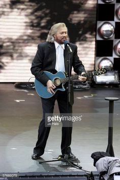 Barry Gibb of the Bee Gees performs on stage during The Prince's Trust 30th Live concert held at the Tower of London on May 20 2006 in London England