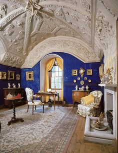 The Blue Sitting Room, Brodie Castle  http://www.flickr.com/photos/ntscotland/6928188599/#