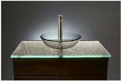 "31""W x 22""D Cast Glass Vanity Top (Slab Only)"