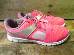9c7d7e1db88 NIKE Flex 2014 RN PS Youth Shoe Size 3Y NEW 642758-601 Hyper Pink Grey